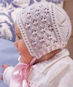 Baby Knitting Patterns Coat This baby hat made of Schachenmayr original Little Finn is cuddly soft for .The world's largest range of knitting yarn, patterns, needles, books and accessories from all of your favorite knitting brands and designers - Get Baby Hat Knitting Patterns Free, Baby Hats Knitting, Lace Knitting, Baby Patterns, Knit Patterns, Knitted Hats, Baby Bonnet Pattern Free, Free Pattern, Knitting Supplies