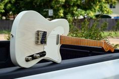 The balancing act. Taglio MKII in again our favorite finish. 1955 Whiteguard Inspired. #teletuesday - - #nissan#titan#tele #telecaster #taglio #mkii #white #guard #1955 #inspired #vintage #custom #love #godisgood #thankgod #handmade #handcrafted #woodworking #luthier #swampash #maple #gear #guitars #freethetone #thetonemob #geartalk #mojo #love