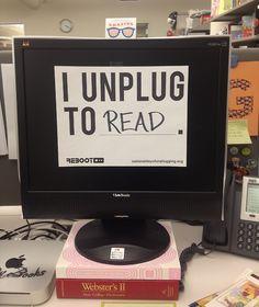 I unplug to read.