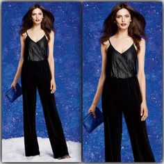 Surplice Knit Jumpsuit Stretch high rise surplice front jumper with elastic waist. Poly/spandex NWOT Four Stars Other