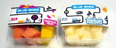 Blue Skies is using RFID technology to monitor the temperature of their cut fruit, ensuring freshness and getting the most our of their shipping Fruit Packaging, Packaging Design, Pineapple Fruit, Best Fruits, Blue Skies, Food, Essen, Meals, Design Packaging