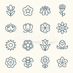 Flower icons royalty-free stock vector art