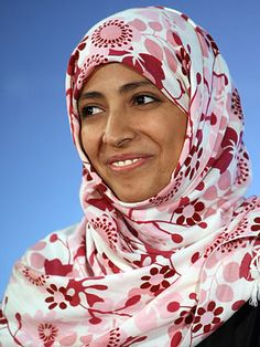 Tawakul Karman,  2011 Nobel Peace prize winner for activism in Yemen