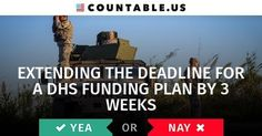 Should Congress Get Three More Weeks To Figure Out A DHS Funding Bill? #Homeland #DeadlineExtention #3weeks #DHS #Politics #Countable