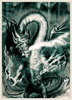 Dragon Sketch, Fantasy Art, Abstract, Dragons, Artwork, Animals, Summary, Art Work, Animais