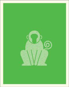 Chevron monkey print