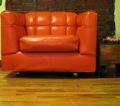 Mid-Century Modern Tufted Chair