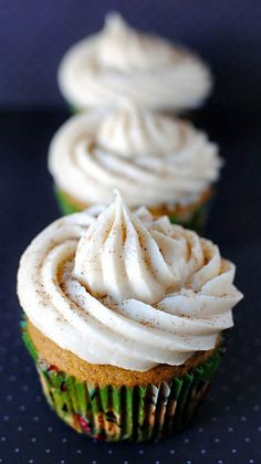 Pumpkin spice cupcakes with carmel cream cheese filling and icing
