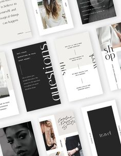 Easy-to-Edit Social Media Templates for Creative Businesses Stylish and Chic So Social Media Branding, Social Media Design, Identity Branding, Social Media Graphics, Visual Identity, Digital Marketing Strategy, Social Media Marketing, Mobile Marketing, Marketing Strategies