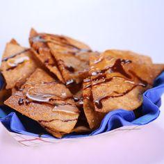 Carla Hall's Chocolate-Caramel Nachos - ohhhhHHHH MMMmmmmyyyyyy!!!!   Now THIS is Super Bowl Food!!!