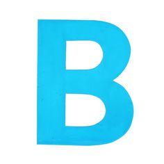 Enamel Letter B Aqua