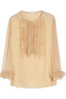 b04b78493a2a77 Chloé   Ruffled silk-mousseline blouse   NET-A-PORTER.COM - StyleSays