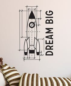 Love this Black 'Dream Big' Rocket Wall Quotes™ Decal by Wallquotes.com by Belvedere Designs on #zulily! #zulilyfinds
