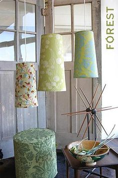 Make lamps (Amy Butler Fabric)