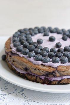 Very Blueberry Layer Cake, gluten free recipe | FamilyFreshCooking.com © MarlaMeridith.com