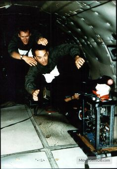 Behind the scenes of Apollo 13 (1995); practicing free fall zero-G in NASA's 'Vomit Comet' (a KC-135 airplane).