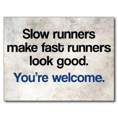 Slow Runners Postcard
