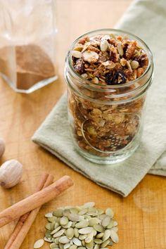 This cinnamon raisin spice paleo granola is gluten-free, grain-free, dairy-free and refined sugar-free.