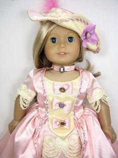 American girl doll clothesThe 18 century by JasmineDollFashions, $85.00