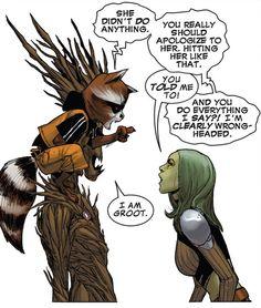 towritecomicsonherarms:  I am Groot. Guardians of the Galaxy #7