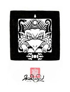 Garuda  The mythical bird called a Garuda is used in this seal design for a company called 'Garuda Trading'.