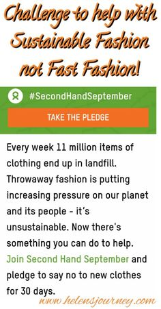 Challenge not to buy any brand new clothes for 30 days to help encourage 'Sustainable Fashion' in a 'Fast Fashion' world. Lets challenge and change the way we buy clothes, use clothes, reuse clothes and how we discard of them too. Charity Websites, Reuse Recycle, Upcycle, Reuse Clothes, Sign Up Page, Blog Online, Shop Up, Months In A Year, Fast Fashion