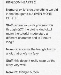 Triangle Button Kingdom Hearts Nomura