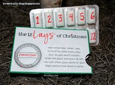 Love, Actually: The 12 Lays of Christmas awesome idea for the husband!