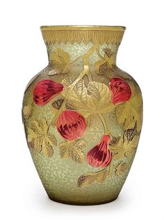 AN ENGLISH PARCEL-GILT CAMEO GLASS VASE, ATTRIBUTED TO WEBB.