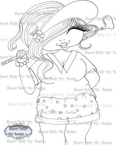 INSTANT DOWMLOAD Digital Digi Stamps Big Eye Big Head Dolls Digi New Fluffy Beautiful Besties Tm  img045 By Sherri Baldy