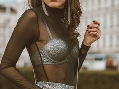My New Year's Eve Look Party Looks, New Year's Eve Looks, Silvester Outfit, New Years Eve, Karlsplatz, Crop Tops, Underwear, Outfits, Women
