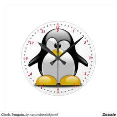 Clock. Penguin.
