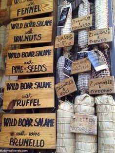 Wild Boar Salami in San Gimignano