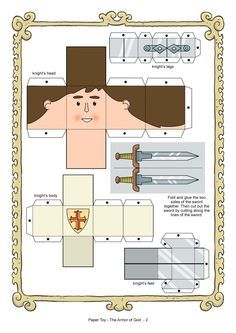 armor of god coloring pages | My Little House: Paper Toy: the Armor of God