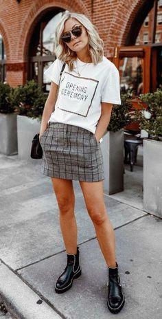 como usar estampa xadrez principe de gales calca mini saia