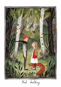 Júlia Sardà - Illustration for The Secret Garden, written by Frances Hodgson Burnett.                                                                                                                                                                                 More