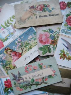 ♥ postcards or calling cards ♥