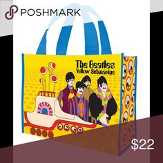 SALE‼️ BEATLES YELLOW SUBMARINE RECYCLED TOTE BAG FIRM!  BEATLES YELLOW SUBMARINE RECYCLED TOTE BAG. Shop with this recycled tote bag or use for the beach, etc. Spot clean Boutique Bags Totes