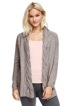 Women's Cable Cardigan Sweater from Lands' End