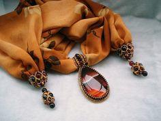 камень на шарфе | biser.info - всё о бисере и бисерном творчестве