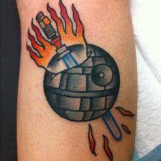 May the fourth star wars mini tattoo by Sanchez - sweeeet!  http://elsancheztattooer.tumblr.com/