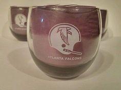 Set of 4 Atlanta Falcons Smokey Whiskey Glasses