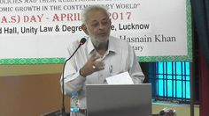 Prof Shah Waseem Former Dean Commerce, AMU, talking at Ali Day 08, April...