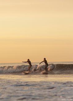 Sunrise surf, New York / Garance Doré