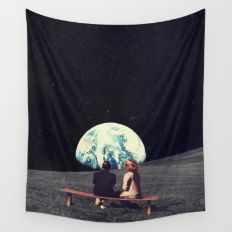 Wall Tapestry featuring We Used To Live There  by Frank Moth