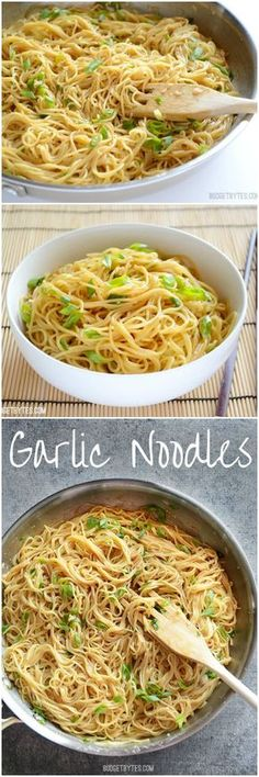 Garlic Noodles - Rich, savory, AND sweet! BudgetBytes.com