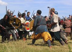 Viking battle reenactment.