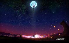 Anime wallpaper Neon Genesis Evangelion, night, astronomy, star - space • Wallpaper For You HD Wallpaper For Desktop & Mobile