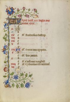 Calendar Page; Unknown; Brabant (possibly), Flanders, Belgium; after 1460; Tempera colors, gold leaf, and ink on parchment; Leaf: 17.1 x 12.2 cm (6 3/4 x 4 13/16 in.); Ms. Ludwig IX 9, fol. 4; J. Paul Getty Museum, Los Angeles, California