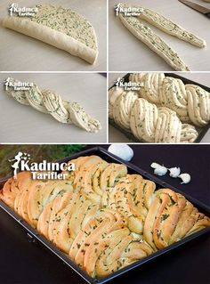 Sarımsaklı Ekmek Tarifi, Nasıl Yapılır - Sulu yemek - Las recetas más prácticas y fáciles Bread Recipes, Baking Recipes, Bread Art, Bread Shaping, Braided Bread, Most Delicious Recipe, Bread And Pastries, Turkish Recipes, Artisan Bread
